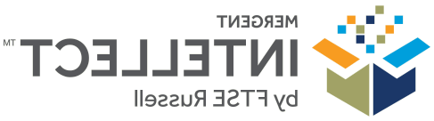 Logo for 智力子公司Mergent, with the words appearing to the right of an open box