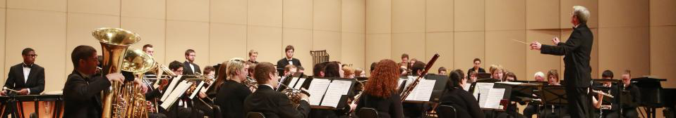 The Wind Ensemble playing music